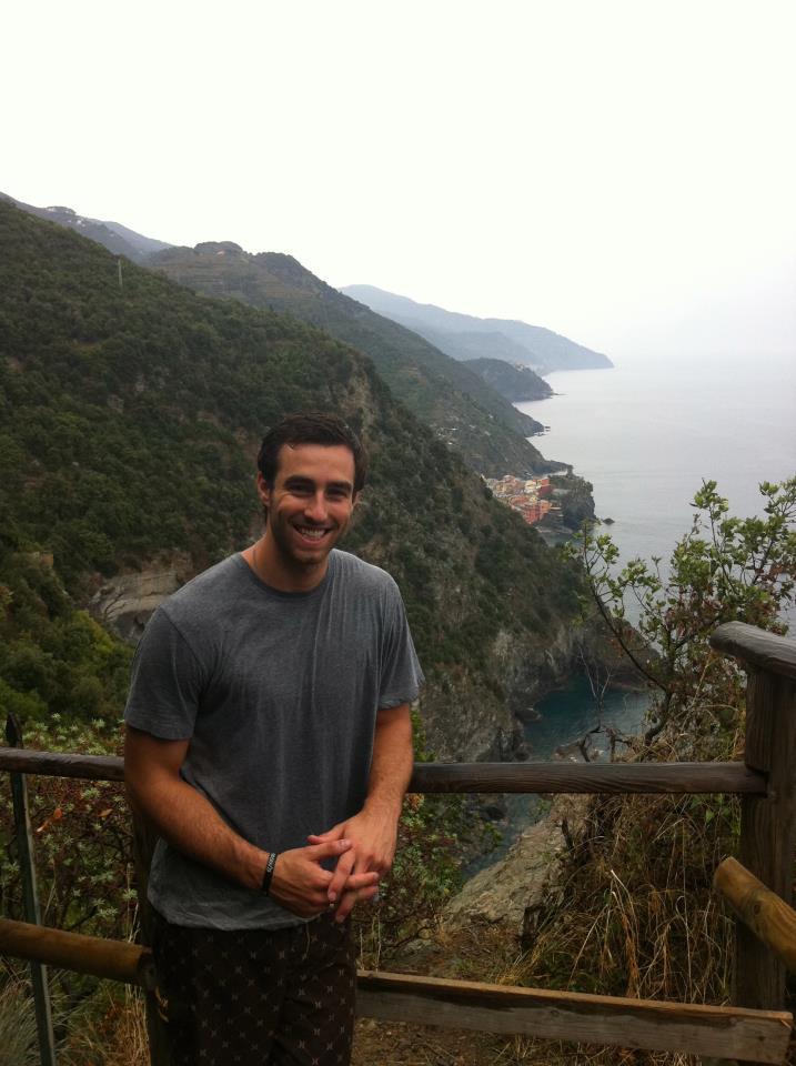 Trail through Cinque Terre in Italy