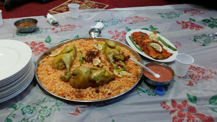 Middle Eastern cuisine {not all of us ate with our hands}